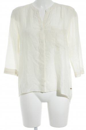 Boss Hugo Boss Blusa in seta beige chiaro-bianco sporco stile casual