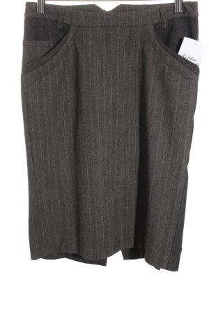 Boss Hugo Boss Jupe en tweed bronze-brun noir motif rayé style d'affaires