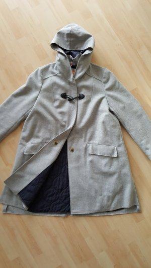 Hugo Boss Duffel Coat light grey-dark blue wool