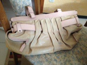 BOSS Lederhandtasche, beige-hellbraun, kaum genutzt-sehr gut erhalten