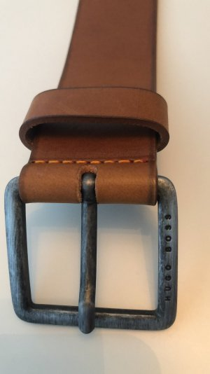 Boss Orange Leather Belt cognac-coloured