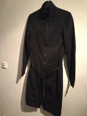 Hugo Boss Gabardina tipo vestido negro Poliéster