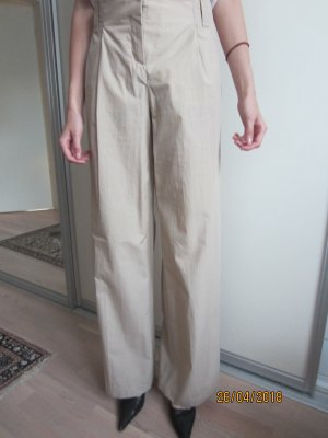 Hugo Boss Marlene Trousers sand brown cotton