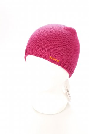 Boss Orange Beanie magenta sportlicher Stil