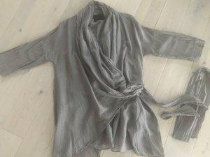 Boss Orange Kimono blouse grijs-bruin