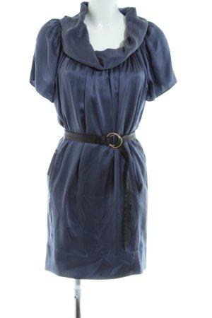Boss Orange Blusenkleid blau-schwarz Elegant