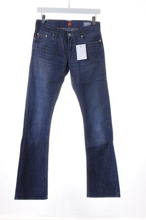 Boss Orange Boot Cut Jeans dunkelblau Casual-Look