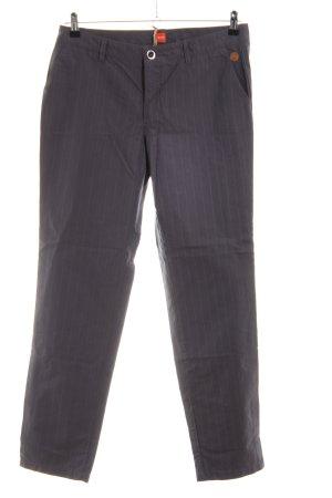 Boss Orange Chinos lilac-light grey striped pattern casual look