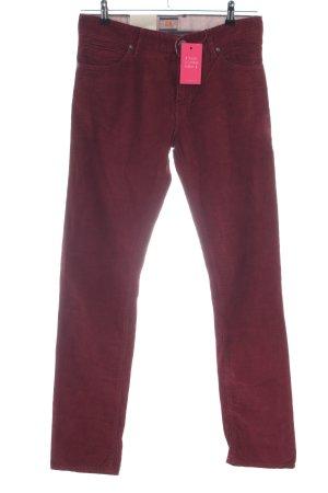 Boss Orange Pantalone di velluto a coste rosso stile casual
