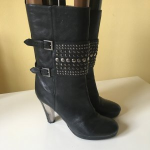 Boss Orange Booties black leather