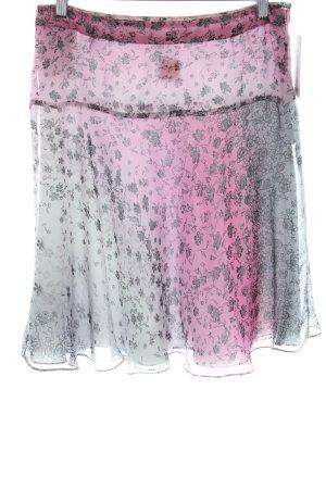 Boss Orange Flared Skirt pink-light grey flower pattern casual look