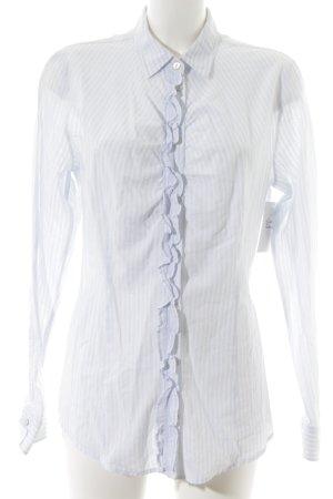Boss Orange Shirt Blouse white-azure striped pattern business style