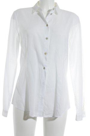 Boss Orange Hemd-Bluse weiß Karomuster klassischer Stil