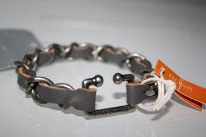 BOSS-Orange-Herren-Kettengliederarmband-Leder-Mowie-NEU