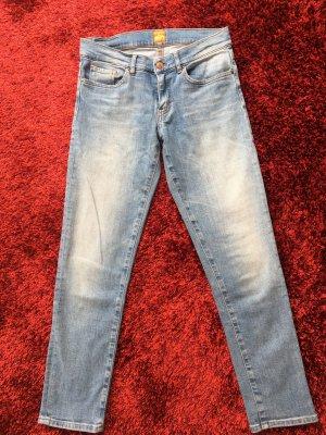 Boss Orange Pantalón tobillero azul aciano