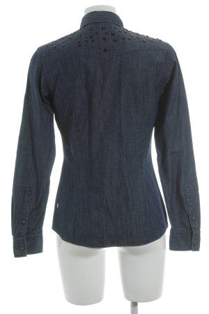 Boss Orange Denim Shirt black-dark blue street-fashion look