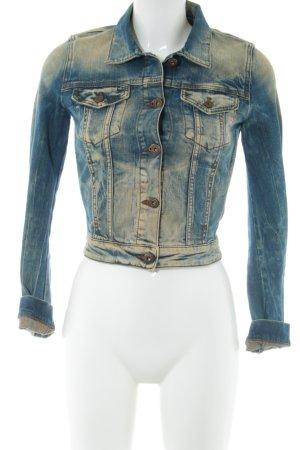 Boss Orange Jeansjacke blau-nude Farbverlauf Street-Fashion-Look