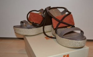 Boss Orange Platform High-Heeled Sandal multicolored leather