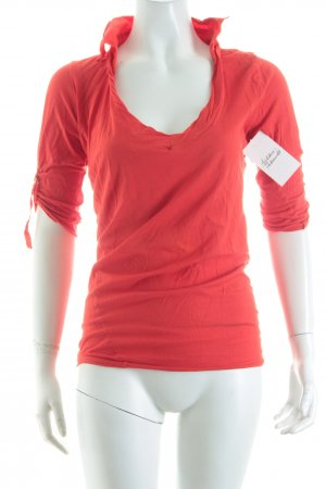 Boss Orange Kurzarm-Bluse ziegelrot Casual-Look