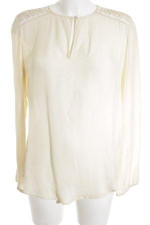 Boss Orange Langarm-Bluse creme-weiß schlichter Stil