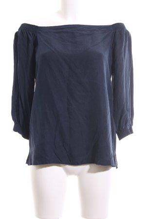 Boss Orange Langarm-Bluse blau Casual-Look