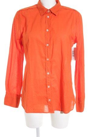 Boss Orange Langarm-Bluse neonorange Punktemuster Business-Look