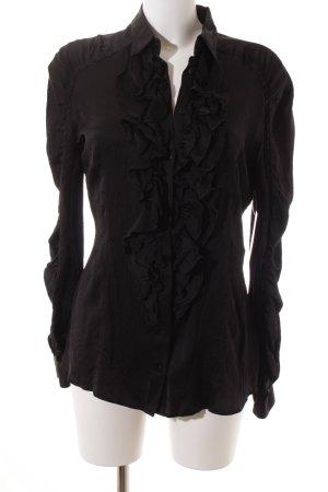 Boss Orange Langarm-Bluse schwarz Elegant