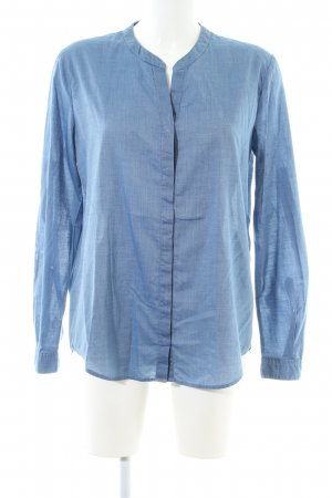 Boss Orange Langarmhemd blau Casual-Look