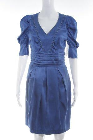 Boss Orange Langarmkleid blau klassischer Stil