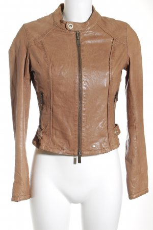 Boss Orange Lederjacke beige Lack-Optik