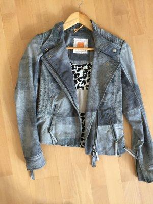 Boss Orange Lederjacke Gr 32 blau wNEU