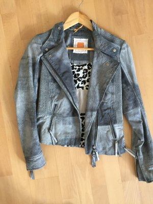 Boss Orange Lederjacke Gr 32 blau wNEU