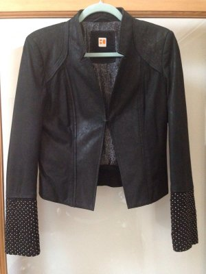 Boss Orange Lederjacke schwarz