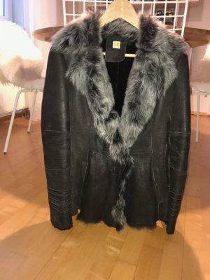 Boss Orange Fur Jacket multicolored leather