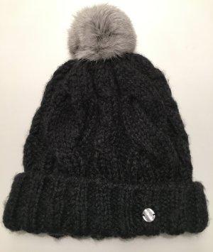Boss Orange Chapeau en tricot gris anthracite