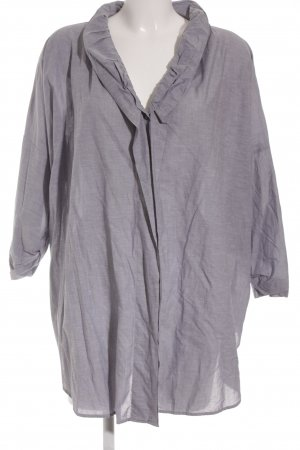 Boss Orange Oversized Bluse grauviolett meliert Casual-Look