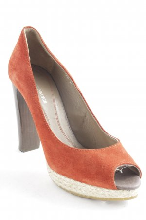 Boss Orange Peeptoe Pumps orange-hellbraun Party-Look