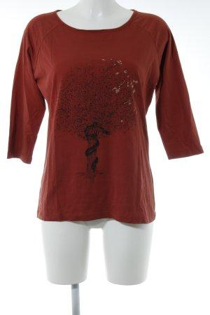 Boss Orange Print-Shirt rostrot Casual-Look
