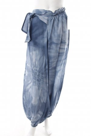 Hugo Boss Jodhpurs cornflower blue-white silk