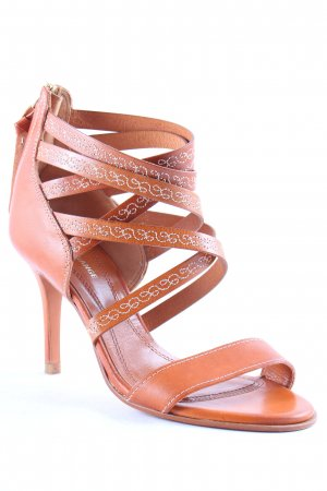 Boss Orange Strapped High-Heeled Sandals cognac-coloured-gold-colored