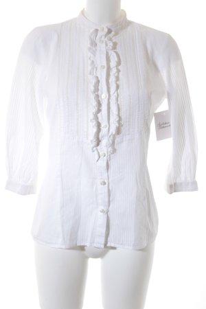 Boss Orange Rüschen-Bluse weiß Elegant