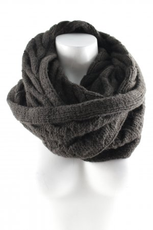 Boss Orange Tube Scarf dark brown cable stitch casual look