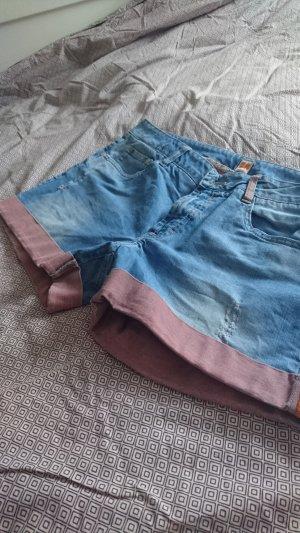 Boss Orange Pantalón corto de tela vaquera multicolor