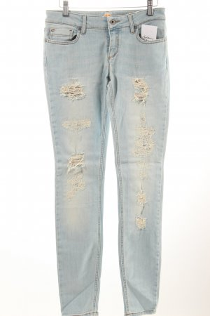 Boss Orange Slim Jeans hellblau Destroy-Optik