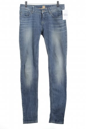Boss Orange Slim Jeans kornblumenblau Logo-Applikation aus Leder