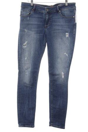 Boss Orange Slim Jeans kornblumenblau Used-Optik