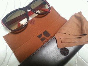 Boss Orange Sonnenbrille Wayfarer neu ohne Etikett Etui Sale! braun lachs