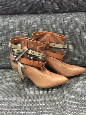 Boss Orange spitze Stiefeletten in Camel Gr.38