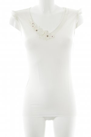 Boss Orange Lace Top natural white floral pattern casual look
