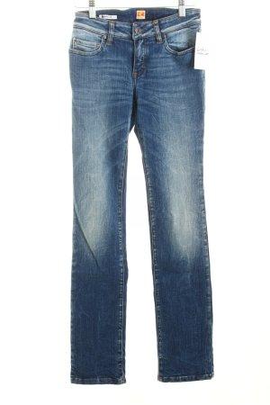 Boss Orange Straight-Leg Jeans blau klassischer Stil